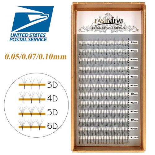 LashView XD Premade Fan Volume Eyelash Extensions .05/.07/.10mm Lashes 3D-6D