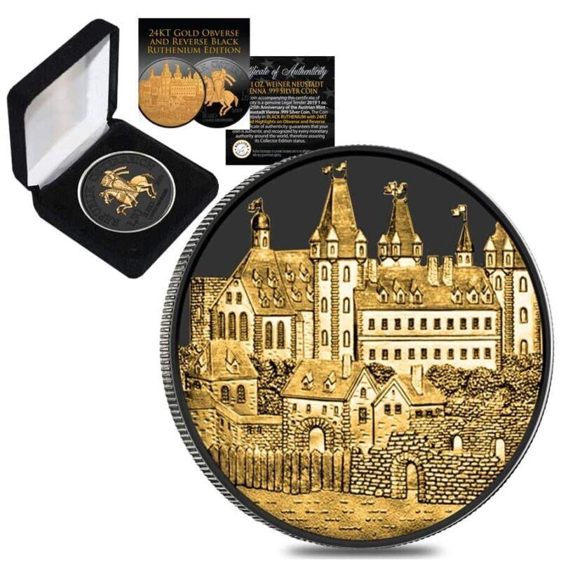 Sale Price - 2019 1 oz Austrian Silver Wiener Neustadt Vienna Coin Black