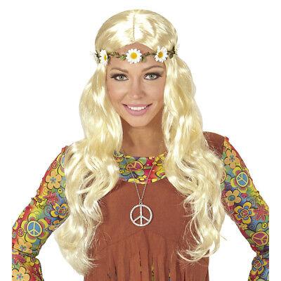 D STIRNBAND 70er Jahre Damen Flower Power Kostüm Party 04658 (Blonde Kostüme)