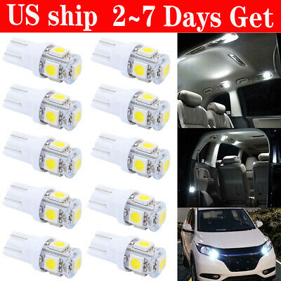 New 10X 6000K Pure White T10 192 921 5050 Led Interior/License Plate Light Bulbs
