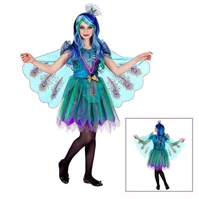 PFAU KOSTÜM KINDER # Karneval Fasching Tier Kleid Flügel Schleier Mädchen # - Pfau Kostüm Mädchen