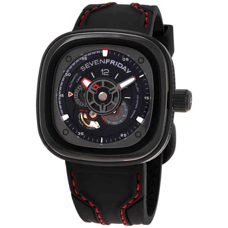 Sevenfriday P-Series Racer III Automatic Black Dial Men Watch P3C/2