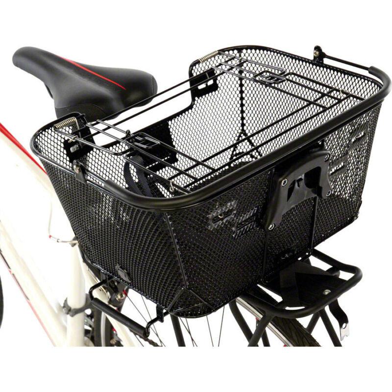 Axiom Pet Basket with Rack and Handlebar Mounts Black
