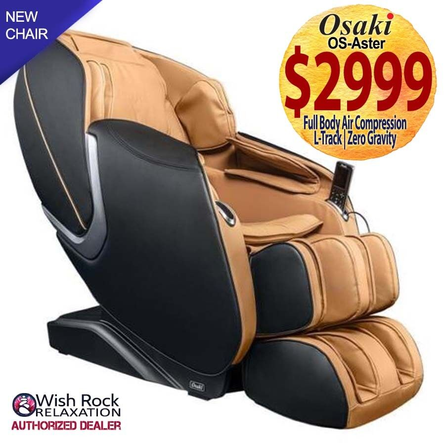 Osaki OS-Aster SL-Track Massage Chair w/ Foot Rollers & Zero
