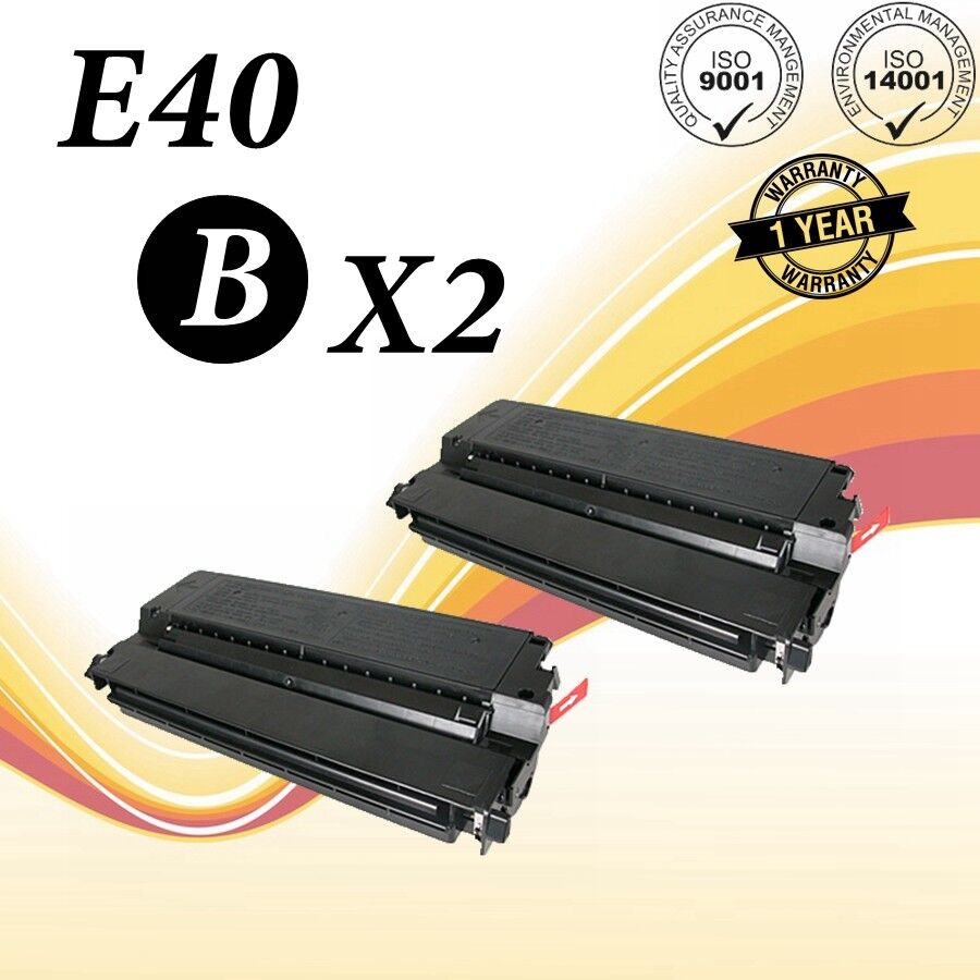 2pk E40 Black Toner Cartridge Compatible For Canon E40 Pc...