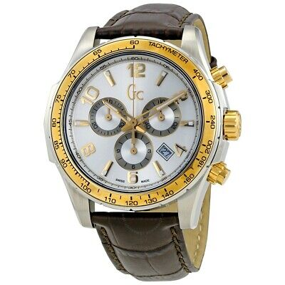 Guess Collection GC Men's Techno Sport Chronograph Silver/Gold Watch - (Guess Gc Men Watch)