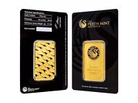Perth Mint 1oz Gold Bullion Bar 99.99% pure gold in Tamper Proof Assay Case