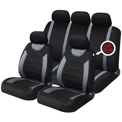 Grey Black Full Set Front & Rear Car Seat Covers for Mitsubishi Colt CZT 05-08