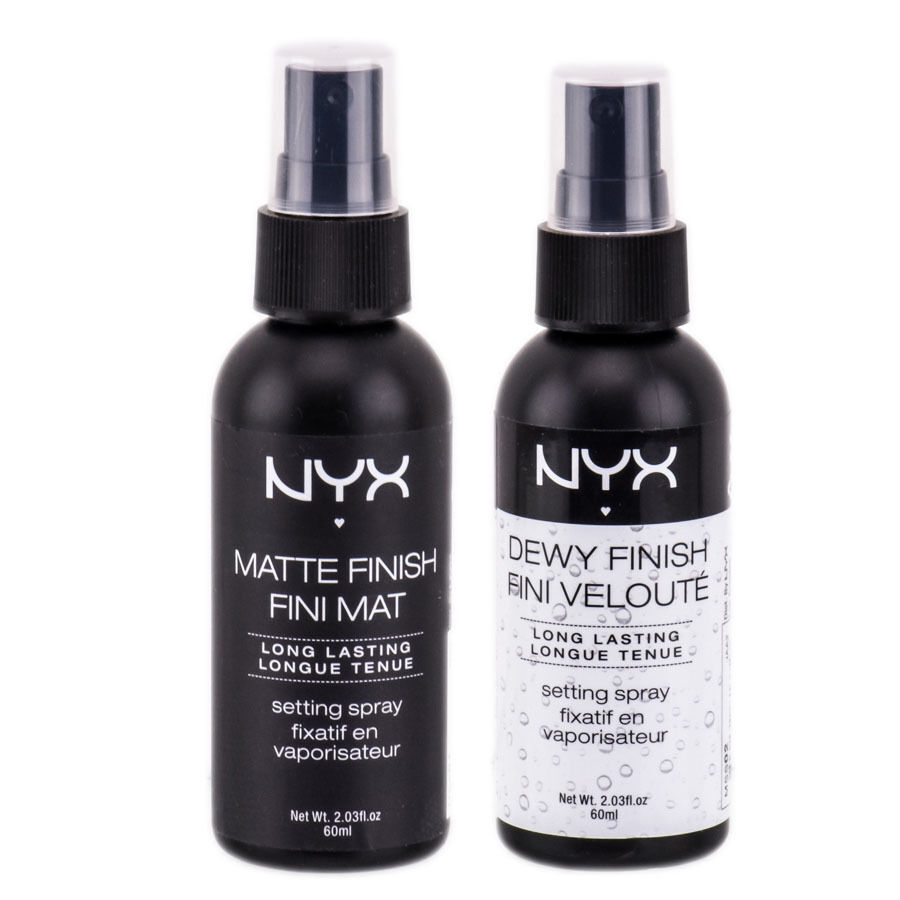 NYX Long Lasting Makeup Setting Spray MSS 01 Matte, 02 Dewy