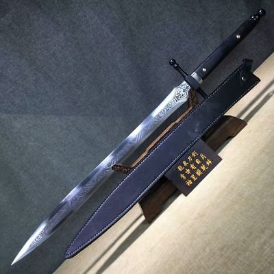 (High Grade King Sword  Katana Sharp 1095High Carbon Steel Blade Ebony Handle Ful)