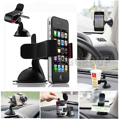 Universal Rotating Car Windshield Mount Holder Stand for iPhone X 8 & Samsung S9