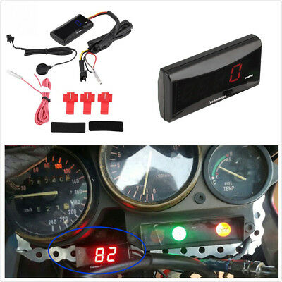DC8 18V PLASTICLED MOTORCYCLES RED LCD ENGINE TACH HOUR METER TACHOME