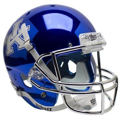 KENTUCKY WILDCATS CHROME BLUE SCHUTT XP FULL SIZE REPLICA FOOTBALL (Blue Replica Football Helmet)