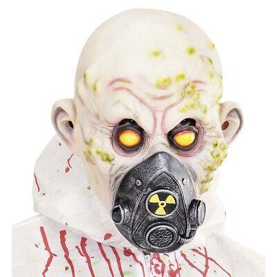 LATEX BIO HAZARD MASKE Halloween Zombie Horror Gas Biounfall Kostüm Party 00843