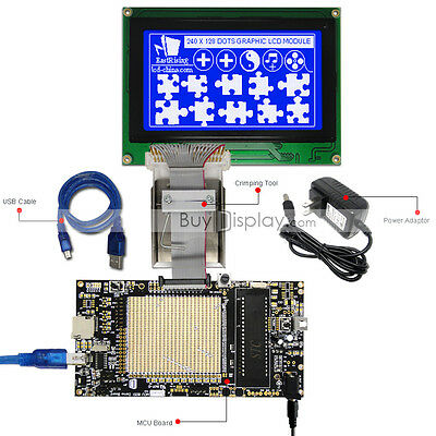 8051 Microcontroller Development Board Kit For 240x128 Graphic Lcd Module