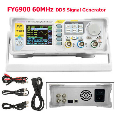 60mhz Fy6900 Dds Signal Generator Dual-channel Arbitrary Waveform Pulse Tft 2.4
