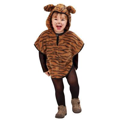 TIGER KOSTÜM KLEIN KINDER Karneval Fasching Party Baby Tier Umhang Poncho   - Tiger Kostüm Kleinkind