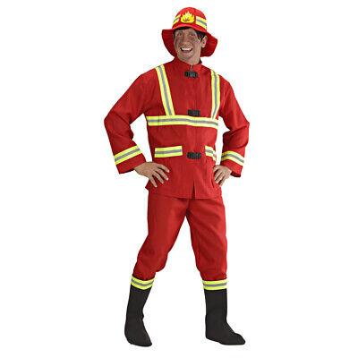 HERREN FEUERWEHRMANNKOSTÜM SET # Karneval Party Rotes Feuerwehrmann Kostüm & Hut