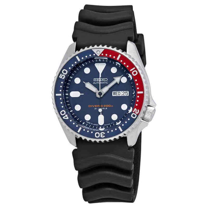 Seiko-Automatic-Diver-Blue-Dial-Pepsi-Bezel-Men-Watch-SKX009J1