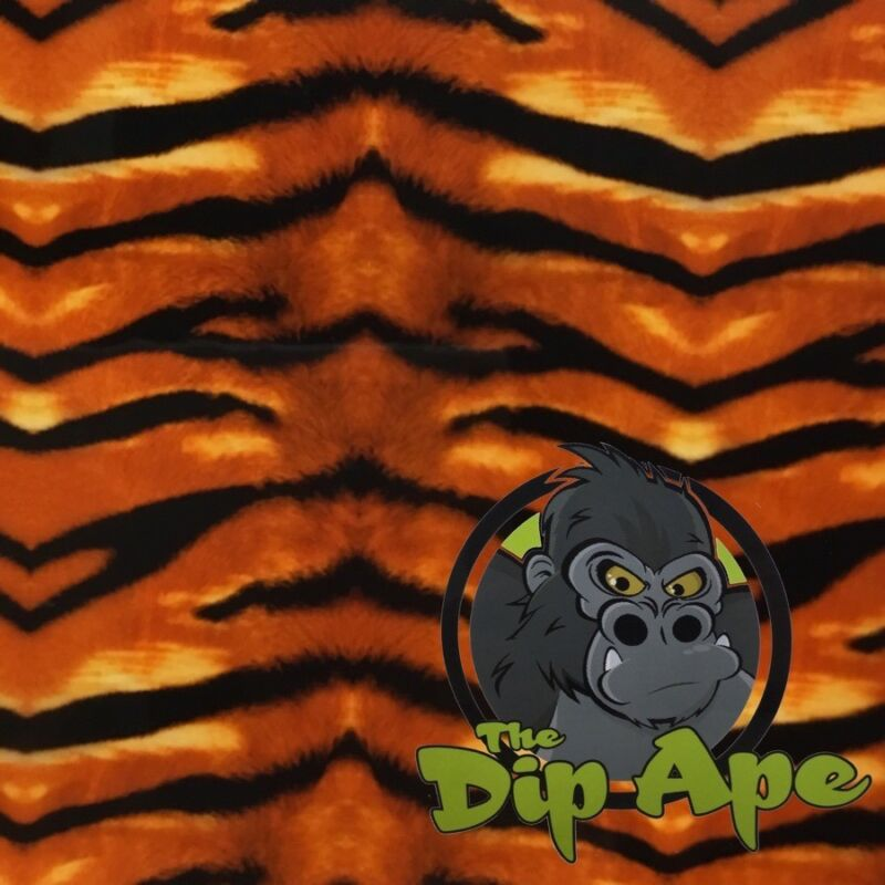 TIGER STRIPES ANIMAL HYDROGRAPHIC WATER TRANSFER HYDRO FILM DIP APE
