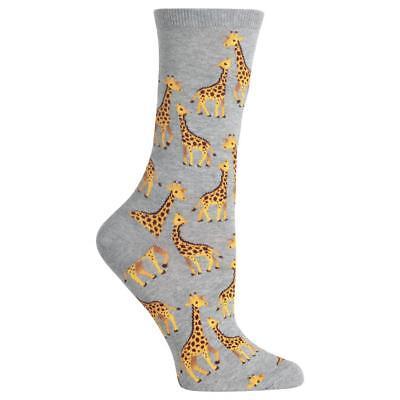 Hot Sox Giraffe Socks Shoe Size 4-10.5 Grey Sock Fun Novelty Casual - Giraffe Socks