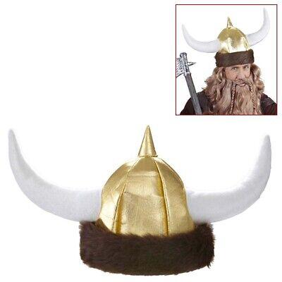 WIKINGERHELM & FELL Karneval Vikinger Wikinger Helm Hut Hörner Kostüm Party 0187 ()