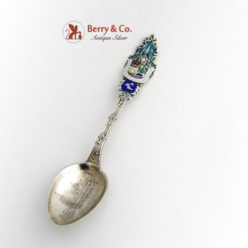 Canadian Souvenir Demitasse Spoon Ottawa Parliament Buildings Sterling 1900