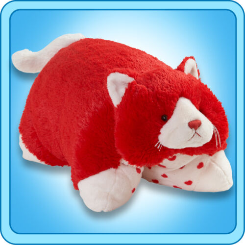 """Authentic Pillow Pets Valentine Cat Large 18"""" Plush Toy Gift"""
