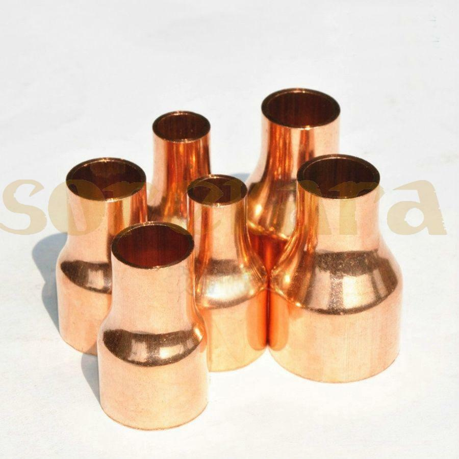 54x28mm Copper End Feed Reducer Coupling Pipe Fitting for gas water oil