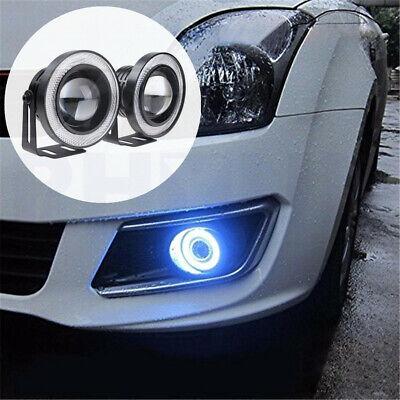 "3.5"" LED Nebelscheinwerfer Blau Standlichtringe 12V Auto Motorrad Off-road 2x"