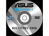Computer PC Laptop Repair Recovery Disk Disc DVD for any computer Asus Toshiba HP Acer Dell and more