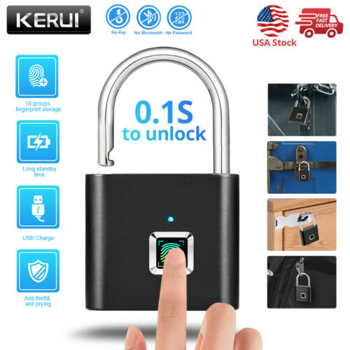 SMART FINGERPRINT DOOR LOCK KEYLESS ANTI-THEFT SECURITY PADL