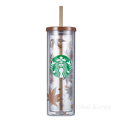 Starbucks 2021 SS Cylinder Autumn Leaves Cold Cup 500ml Limited Edition Korea MD