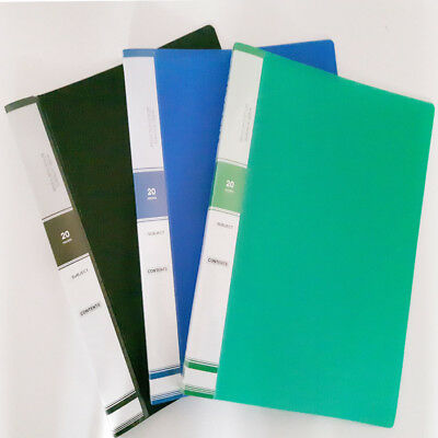3 Pack A4 File 20 Pockets Book Presentation Document Folder Book File