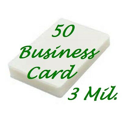 50pk Business Card Laminating Pouches Sheets 2-14 X 3-34 3 Mil Scotch Quality