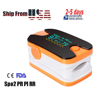 Oled Pulse Oximeter Spo2 Monitor Oxymeter With Respiratory Rate Pi Pr Saturation