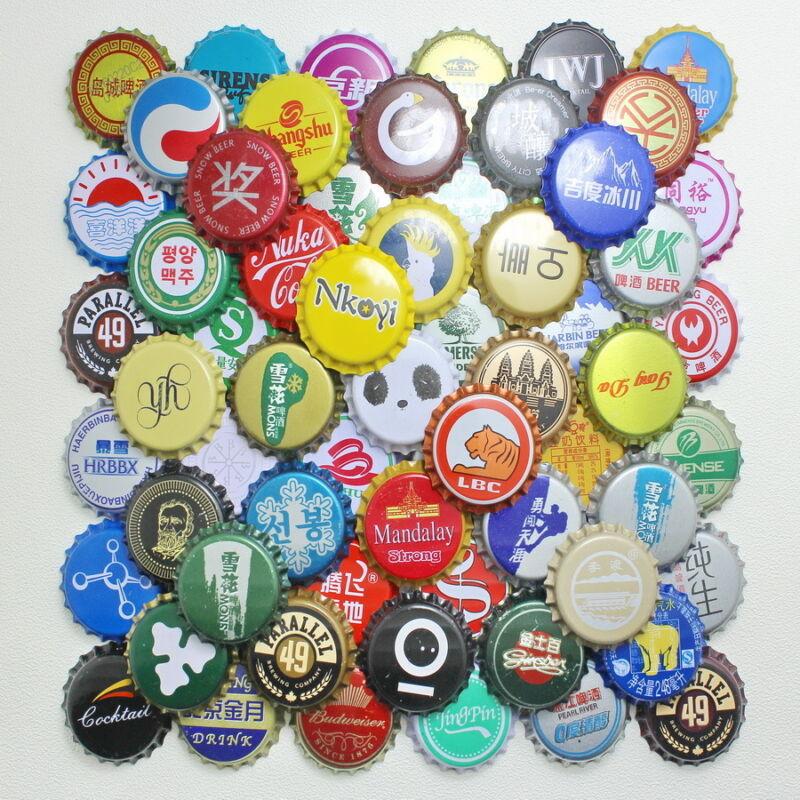 50pcs China Bottle beer Caps KRONKORKEN CROWN CAPS