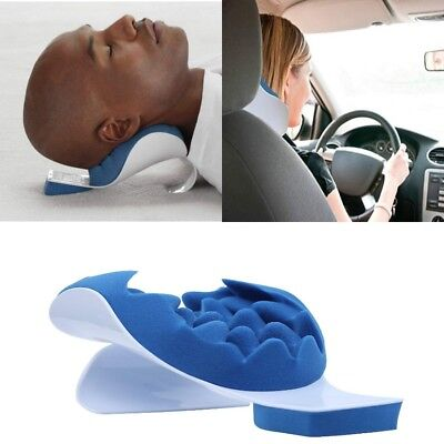Neck And Shoulder Relaxer Pain Relief Cervical Chiropractic Pillow Support