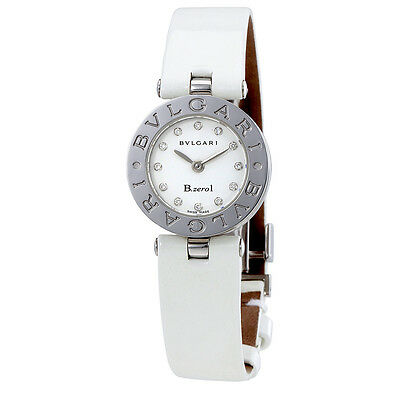Bvlgari B. Zero1 White Dial Ladies Diamond Watch 100986