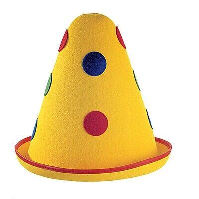 GELBER CLOWN HUT # Karneval Fasching Clownshut Kopfbedeckung Kostüm Party 1669
