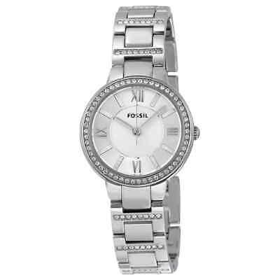 Fossil Virginia Silver Dial Stainless Steel Ladies Watch ES3282