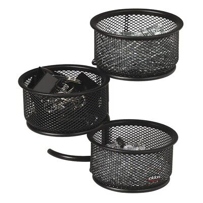 Rolodex Expressions Wire Mesh 3-tier Swivel Tower - Steel - 1 Each - Black - Expressions Mesh Wire Desk Accessories