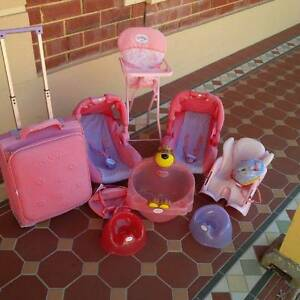 BABY BORN DOLL SUITCASE, BATH, BIKE CARRIER & DOLL HELMET &MORE! Flagstaff Hill Morphett Vale Area Preview