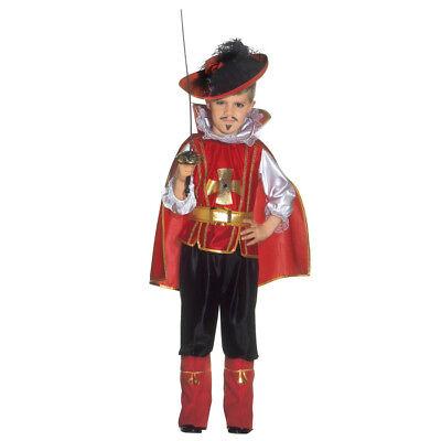 MUSKETIER KOSTÜM & UMHANG KINDER Karneval Fasching Mittelalter Prinz Jungen - Kind Mittelalter Prinzen Kostüm