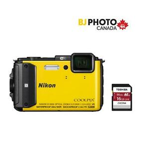 Coolpix AW130 Black Friday Kit with Toshiba 16GB
