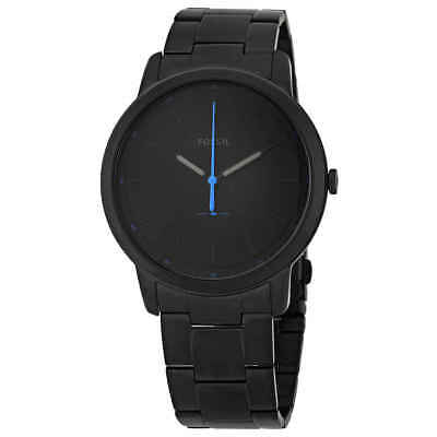 Fossil The Minimalist Black Satin Dial Men's Watch FS5308