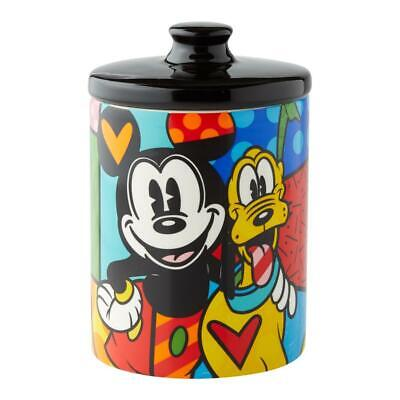 Romero Britto Disney Pluto With Mickey Mouse Canister Cookie Jar