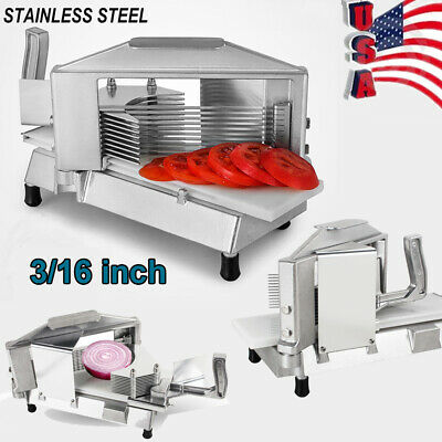 316 Inch Commercial Tomato Slicer Cutter Cutting Machine W Removable Cartridge