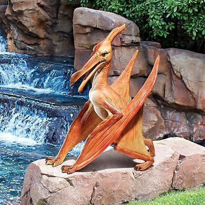 Pterodactyl Statue Prehistoric Flying Reptile Dinosaur Dino Garden Art Sculpture