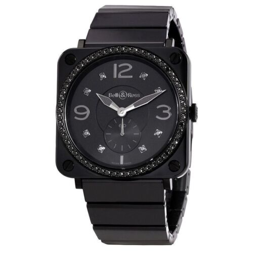 Bell and Ross Aviation Black Diamond Dial Unisex Ceramic Watch BRS-BLC-PH-LGD/SC - watch picture 1